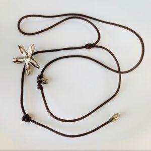 Uno de 50 lariat Y Necklace Brutalist Style Star